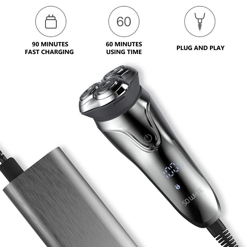 Image 5 - Soocas SO WHITE Electric Shaver Razor Men Washable USB Rechargeable 3D Floating Smart Control Shaving Beard Cleaner-in Electric Shavers from Home Appliances