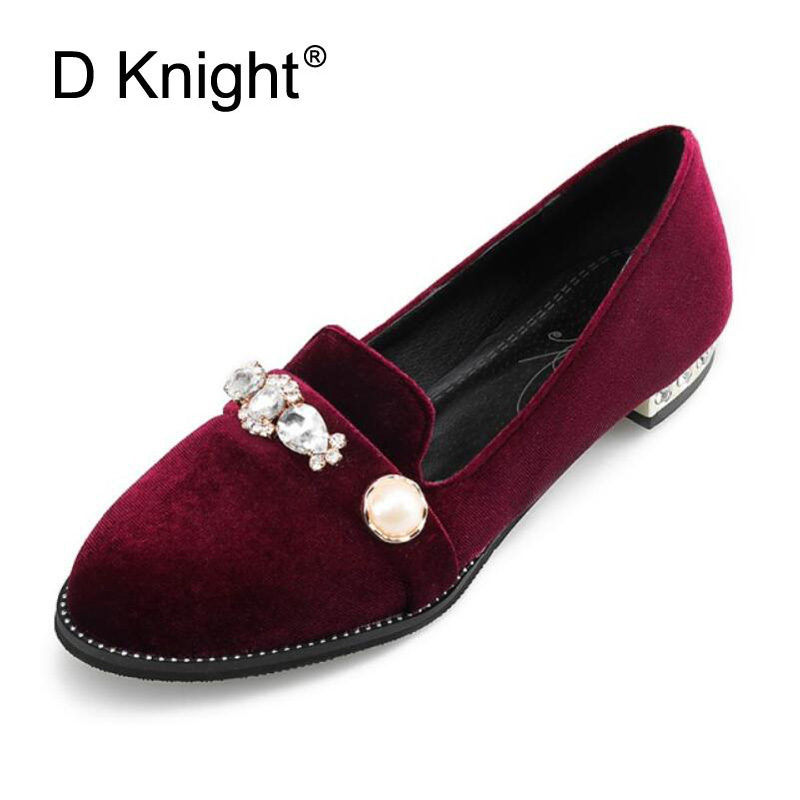 46e68f0b05975e BEYARNE Women Crystal Ballet Flats Size 34-43 2017 Spring Solid Gold Bling  Cloth Pointed Toe ...
