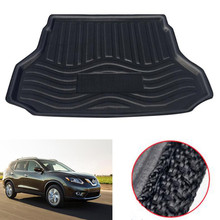 Car Waterproof Cargo Liner Rear Trunk Boot Mat Cover Floor Tray Protector Pad Fit For Nissan Rogue / X-Trail 2014-2018 Styling areyourshop car auto cargo mat boot liner tray rear trunk sticker dog pet cover for peugeot 2008 2014 car covers stickers