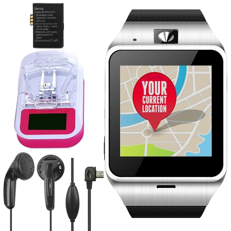 imágenes para Wearable dispositivos gv18 reloj bluetooth smart watch fm gps para niños kid reloj smartwatch teléfono pk gt08 u8 m26 a1