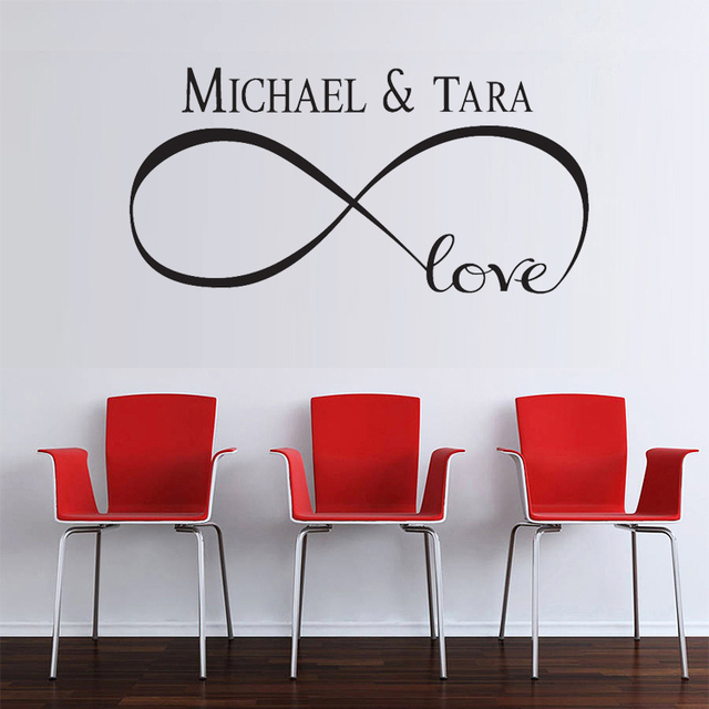 Custom Personalized Infinity Symbol Bedroom Diy Love Quotes Kiss Wall Art Decor Stickers Free