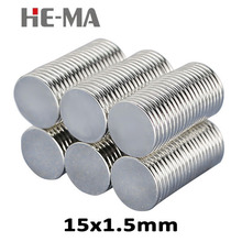 30pcs 15 x 1.5mm N35 Mini Powerful Magnet Rare Earth Permanent Small Round Strong Neodymium Magents