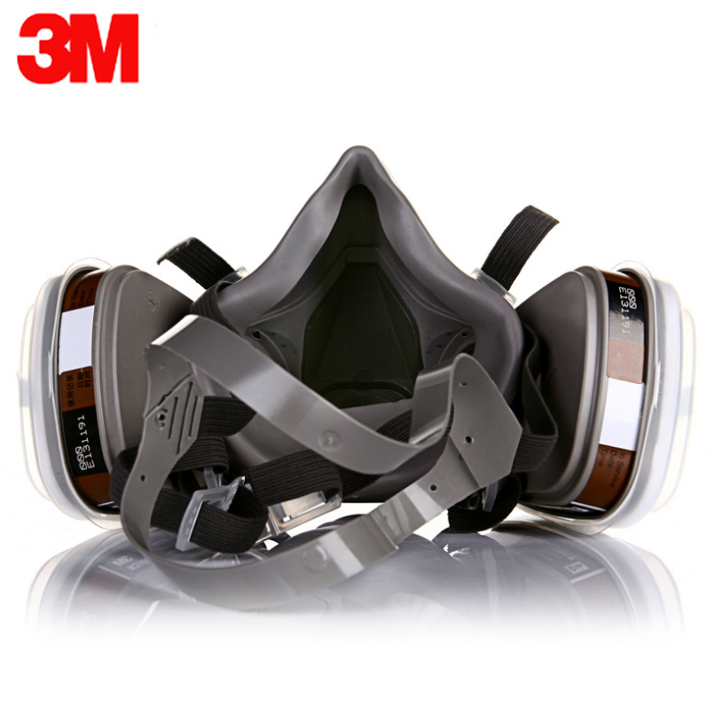 Image 4 - 9in1 3M 6200 Half Facepiece Gas Mask Respirator With 6001/2091 Filter Fit Painting Spraying Dust Proof-in Masks from Security & Protection