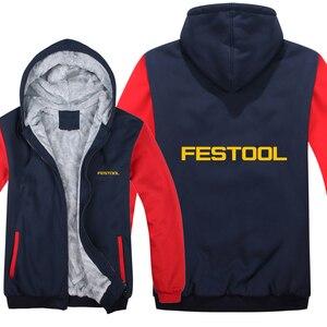 Image 5 - Festool כלים נים Mens רוכסן מעיל צמר לעבות איש Festool כלים סווטשירט בסוודרים