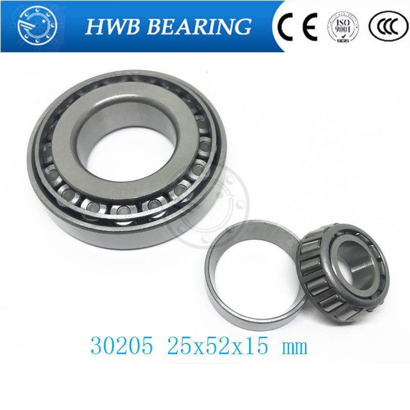 Free Shipping Taper Roller bearing 30205 25x52x15 mm Tapered roller bearings, single row 25x52x15mm tapered roller bearings 32018 2007118e 90 140 32