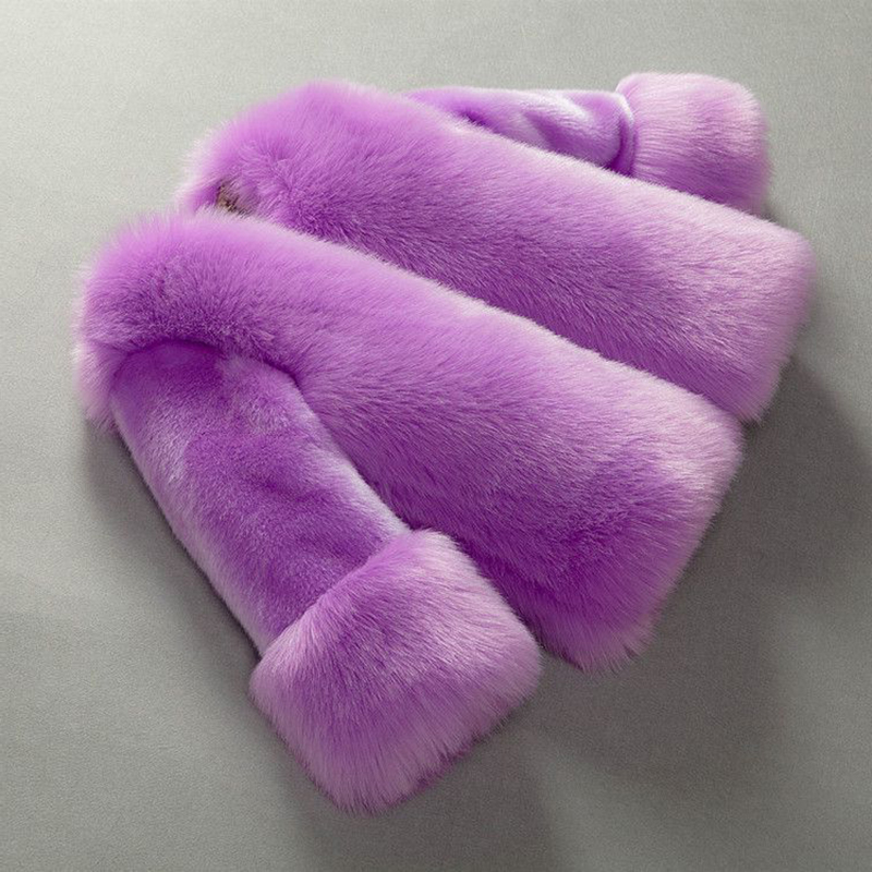 2017 New Fashion Girls Faux Fur Coat Children Fur Coat Warm Winter Girls Coat Children Outerwear Coat For Baby Girls Clothing