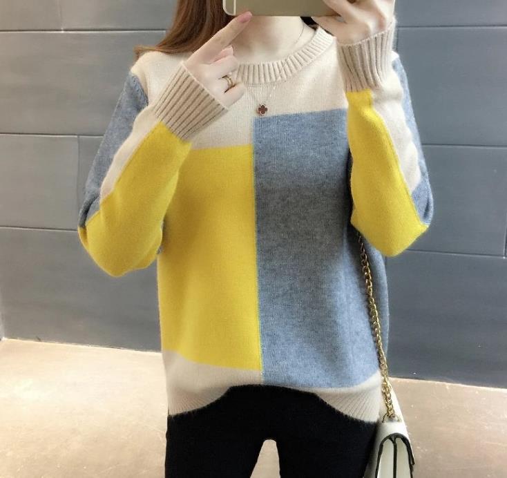 Del Donne Casual Nuovo Maglione Partita Moda Di Delle 2019 Stile Alla Colore Donne M1522 Maglione TSP6qzznZ