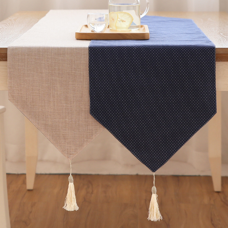 Modern Table Runner Printed Geometric Linen Cotton Table Runner For Wedding Party Home Hotel Table Decoration Home Textile