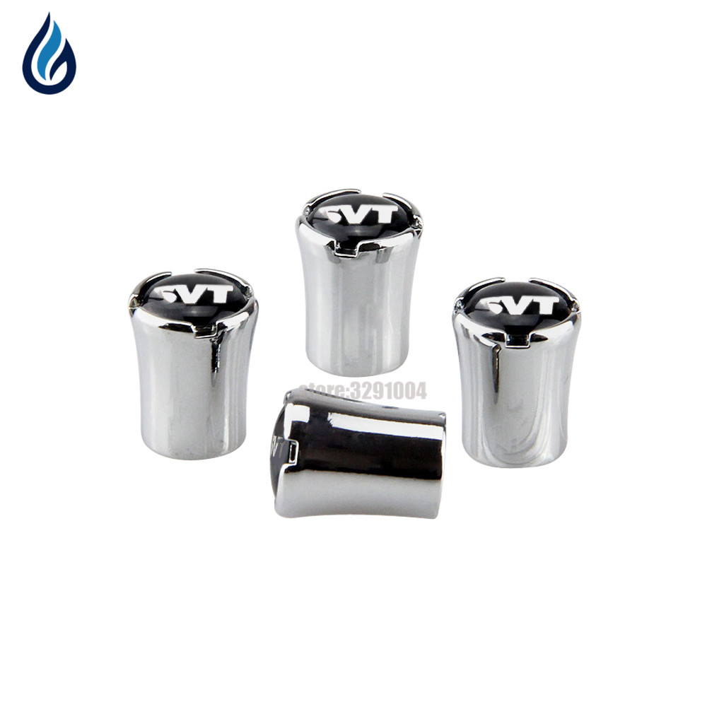 SVT Car Wheel Tire Valve Stems Caps Cover For Ford Mustang Shelby GT500 Wolf F150 Raptor Focus Mondeo Kuga Fiesta Escort Excape