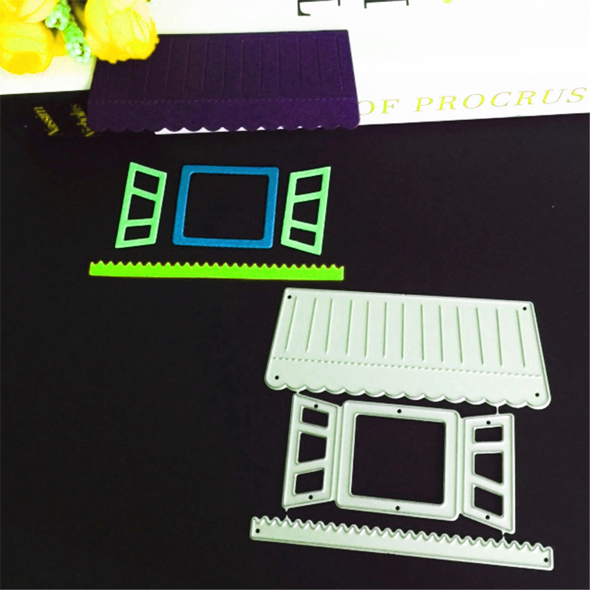 Metal craft paper cut DIe Cutting dies Joining together house Embossing mould DIY Scrapbooking party album cards