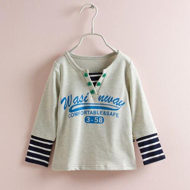 Весна осень мальчик футболка для детей полосой мальчиков рубашки детей топы детская одежда тройники