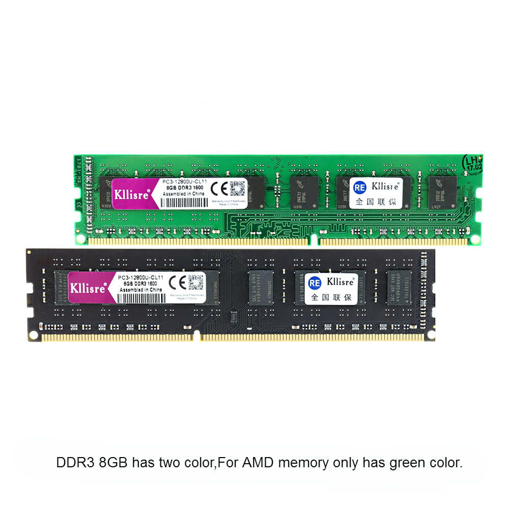 Kllisre Ram DDR3 4GB 8GB 2GB 1333 1600MHz Desktop Memory with Heat Sink 240pin 1.5V New dimm