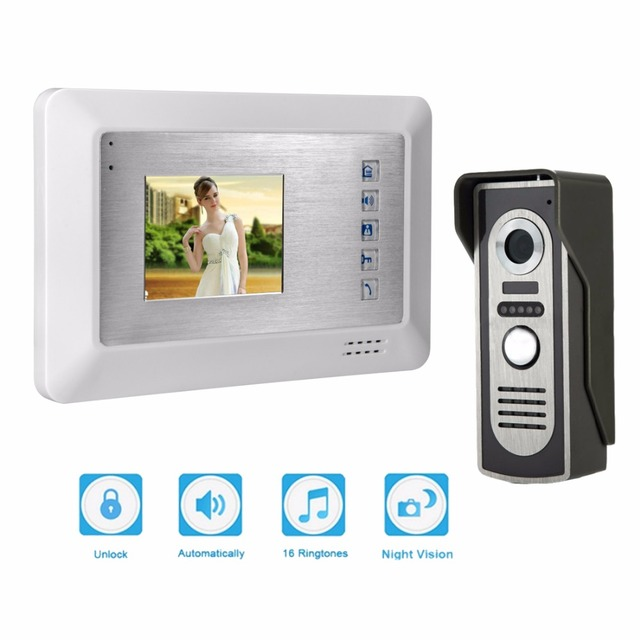 """3.5"""" Color Video Door Phone Video Intercom Door Intercom Doorphone IR Night Vision Camera Doorbell Kit for Apartment"""