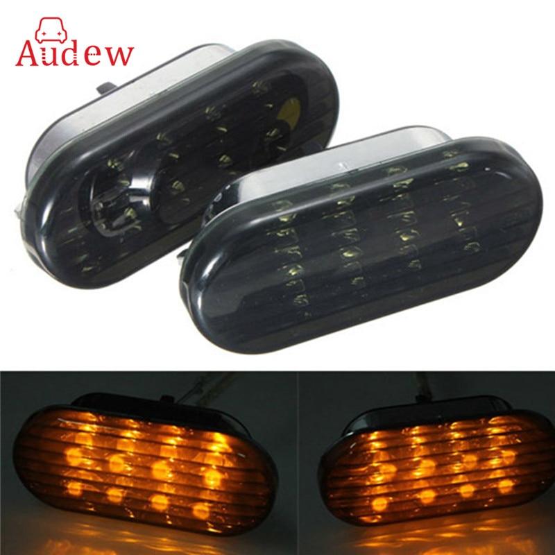 1 Pair(2Pcs) Amber Smoke Blue Side Marker Turn Light 8LED For VW/Volkswagen/Golf/Jetta/Passat/Beetle free ship turbo k03 29 53039700029 53039880029 058145703j n058145703c for audi a4 a6 vw passat 1 8t amg awm atw aug bfb aeb 1 8l