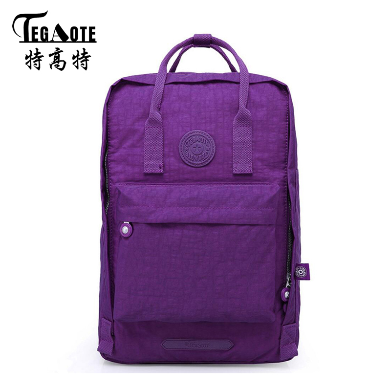 TEGAOTE 2017Anti-theft Waterproof Backpack for Teenage Girls Casual Nylon Backpacks Mochila Feminina Travel Bagpack Women Bag