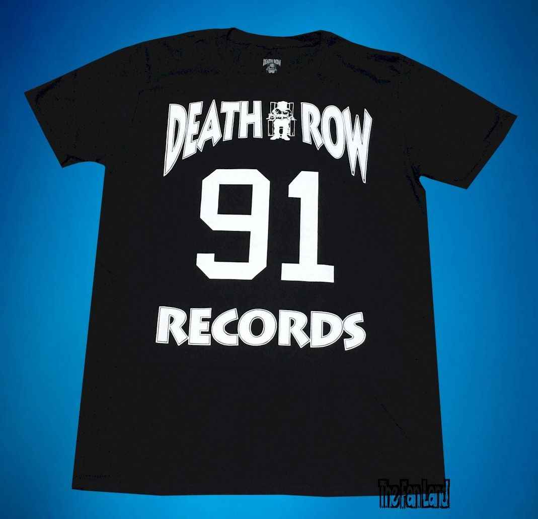 New Death Row Records 91 Vintage Clássico T-Shirt Dos Homens