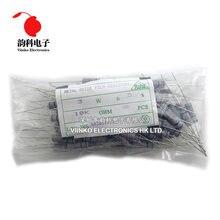 100 uds 3W película de óxido de Metal resistencia 5% 1R ~ 10M 100R 220R 330R 1K 2,2 K 3,3 K 4,7 K 10K 22K 47K 100K 1M 100, 220, 330 ohm, película de carbono