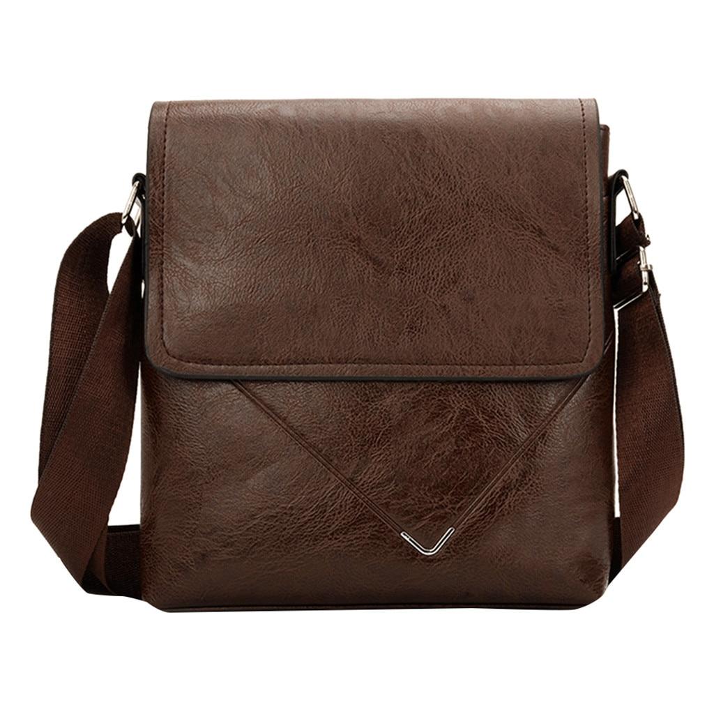 Office Shoulder Bags Tote Men's Business Diagonal Cross Bag Briefcase Solid Color Classic Shoulder Bag Handbag Laptop