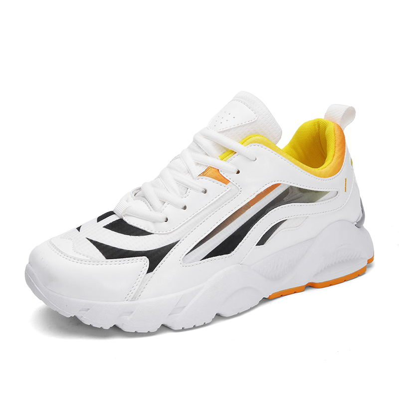 LAISUMK Breathable Mesh PU Leather Walking Shoes Man Lightweight Sneakers Outdoor Fashion Designer