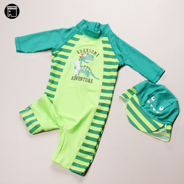 9219c3ba9718d USEEMALL One Piece Swimsuit UV Swimwear Cartoon Swimming Suit for Kids Baby Boy  Bathing Suits Children Swimming Clothes upf 50