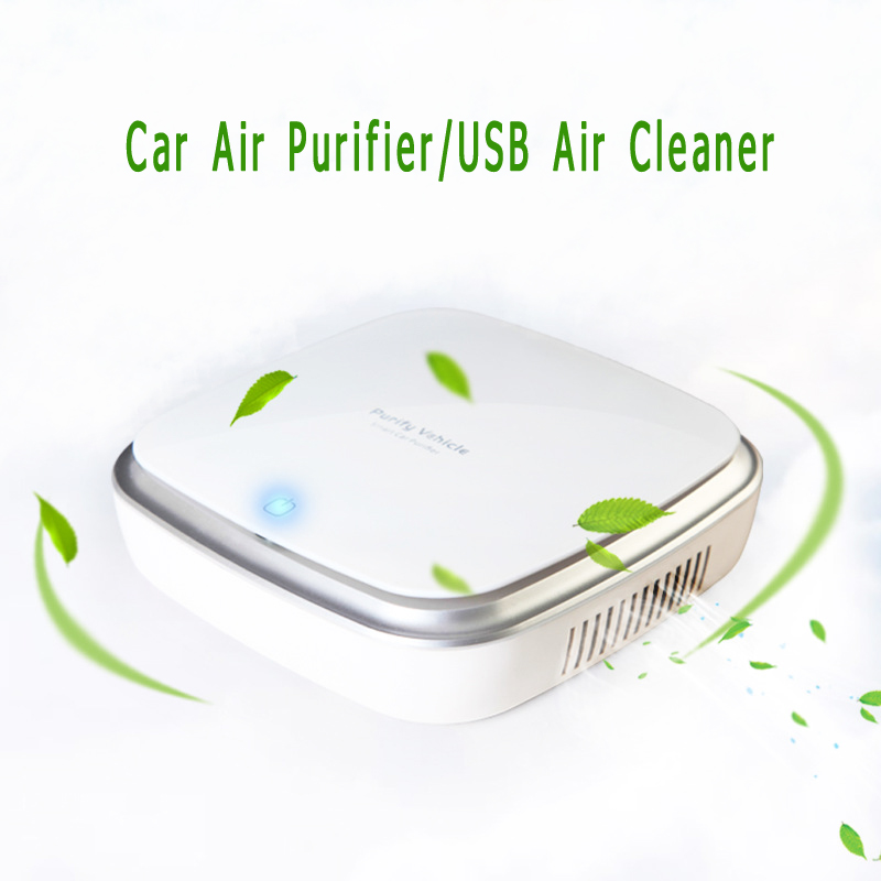 Smart Car Air Purifier and Portable Car Aromatherapy Bar for Car Office Home Use Car Formaldehyde PM2.5 Smoke Anion Air Cleaner