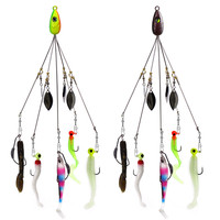 Sea Fishing Lures Alabama Rigs Umbrella Fishing Lure Group Hanging 5 Bait Attack Accessories Bionic Fish Hook Combination