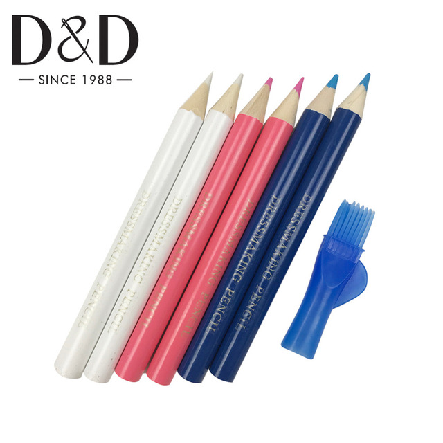 D&D 3 Colors Dressmaker Tailor's Chalk Garment Fabric Craft Sewing Chalk Pencils Temporary Marking Sewing Accessories