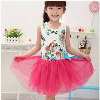 d3284003e Vestido de niña 2015 verano floral bebé niña vestido princesa tutú vestido  3 colores para niños