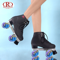 Women's Roller Skates Girls Rink Skates Light up LED Quad 4 Wheels Skating Shoes High Top , free shipping