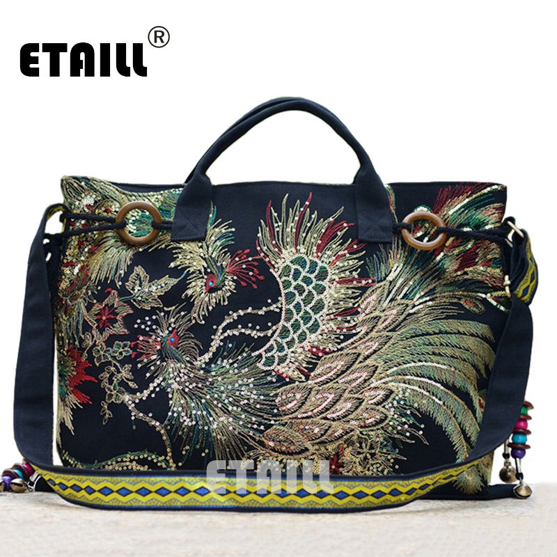 Hmong Tribal Ethnic Embroidery Shoulder Bag Chinese Handmade Thai Indian Boho Embroidered Luxury Famous Brand Logo Handbags цена 2017