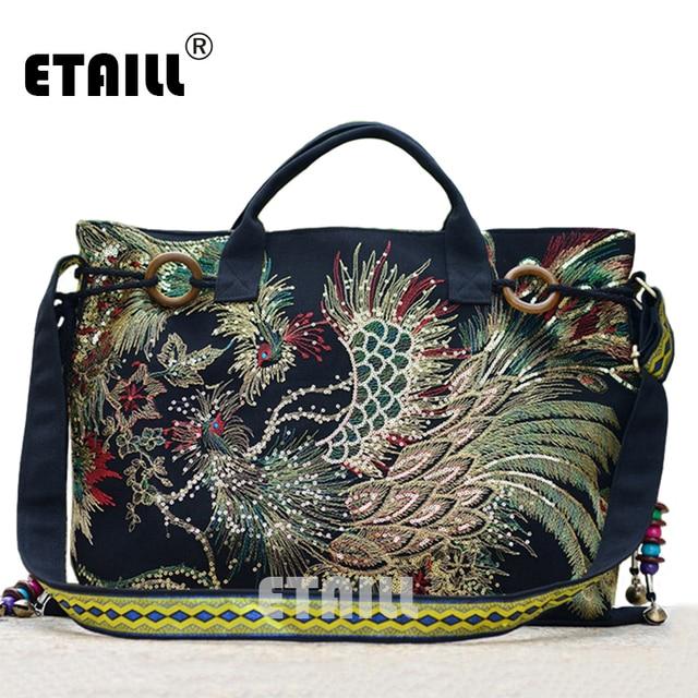 Hmong Племенной Этническая вышивка сумка китайский ручной тайский индийский  Boho вышитые Роскошные Известный логотип бренда сумки c06caccadd0