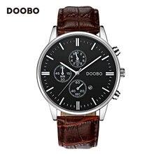 Mens Watches Top Brand Luxury Leather Strap Gold Fashion Watch Men Quartz-Watch clock men DOOBO Military Casual Sport Wristwatch