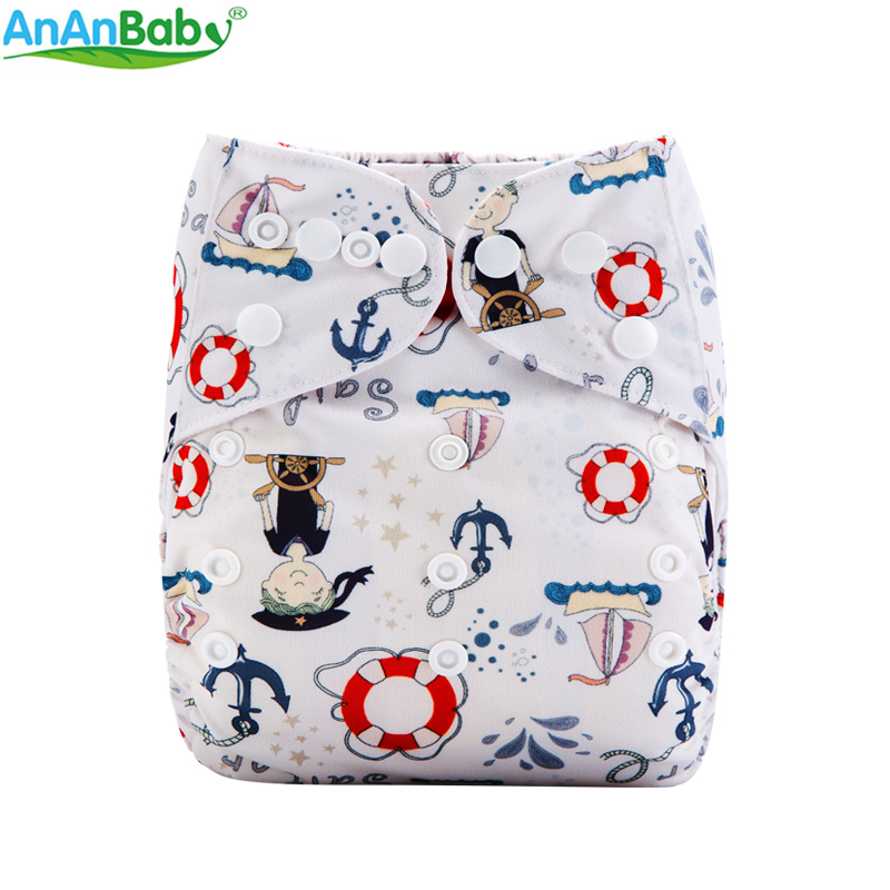 Arrival ! Ananbaby 2019 New Digital Prints Cloth Diaper One Size Reusable Baby Nappies M-Series