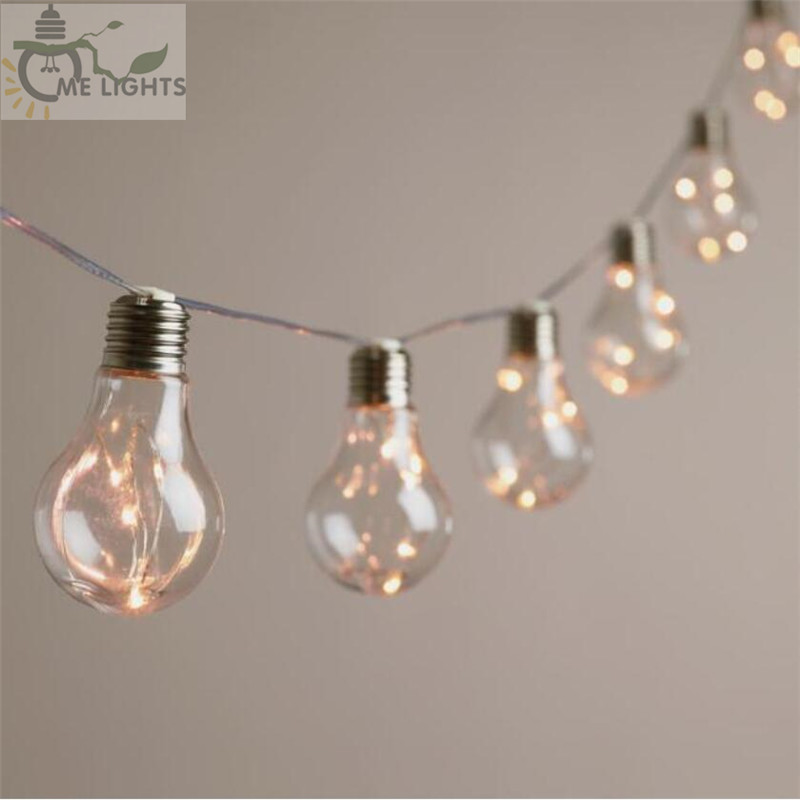4 mt 10 Vintage Lampen LED Girlande String Fairy Lichter Girlande Party Lichter für Home Veranstaltungen Garten Party Weihnachten Hochzeit dekoration