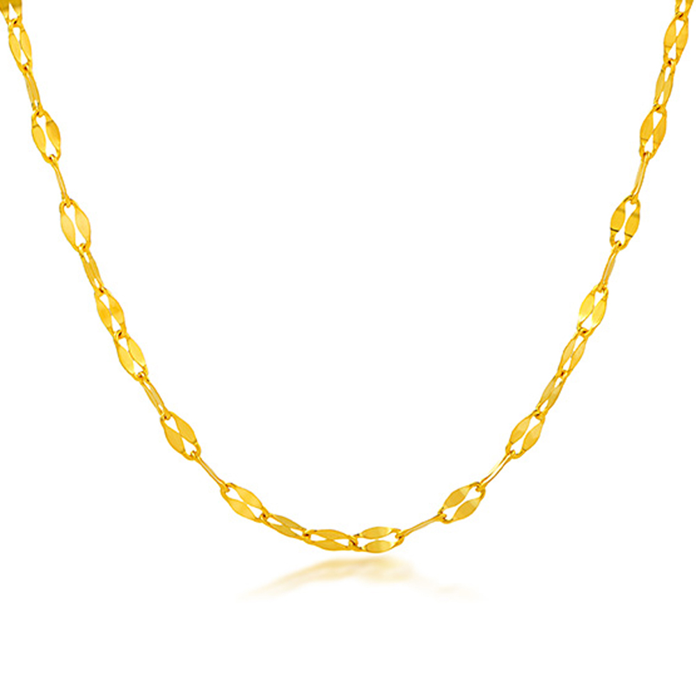 RINYIN Fine Jewelry Genuine 18K Yellow Gold Necklace Pure AU750 Sexy Mouth Chain 16 18 InchesRINYIN Fine Jewelry Genuine 18K Yellow Gold Necklace Pure AU750 Sexy Mouth Chain 16 18 Inches