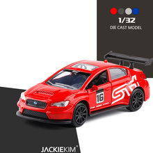 High simulation 1/32 Scale SUBARU WRX STI Alloy Car Model Metal Diecast Toy Vehicle Kids Christmas Toys Free Shipping(China)
