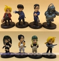 8 шт./лот ПВХ Q версия Японский классический аниме фигуры 4 см Стальной Алхимик фигурку коллекционная модель игрушки для мальчиков