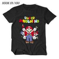 2017 Summer Fashion Cute Super Mario Men T Shirt Short Sleeve 100 Cotton T Shirts Super