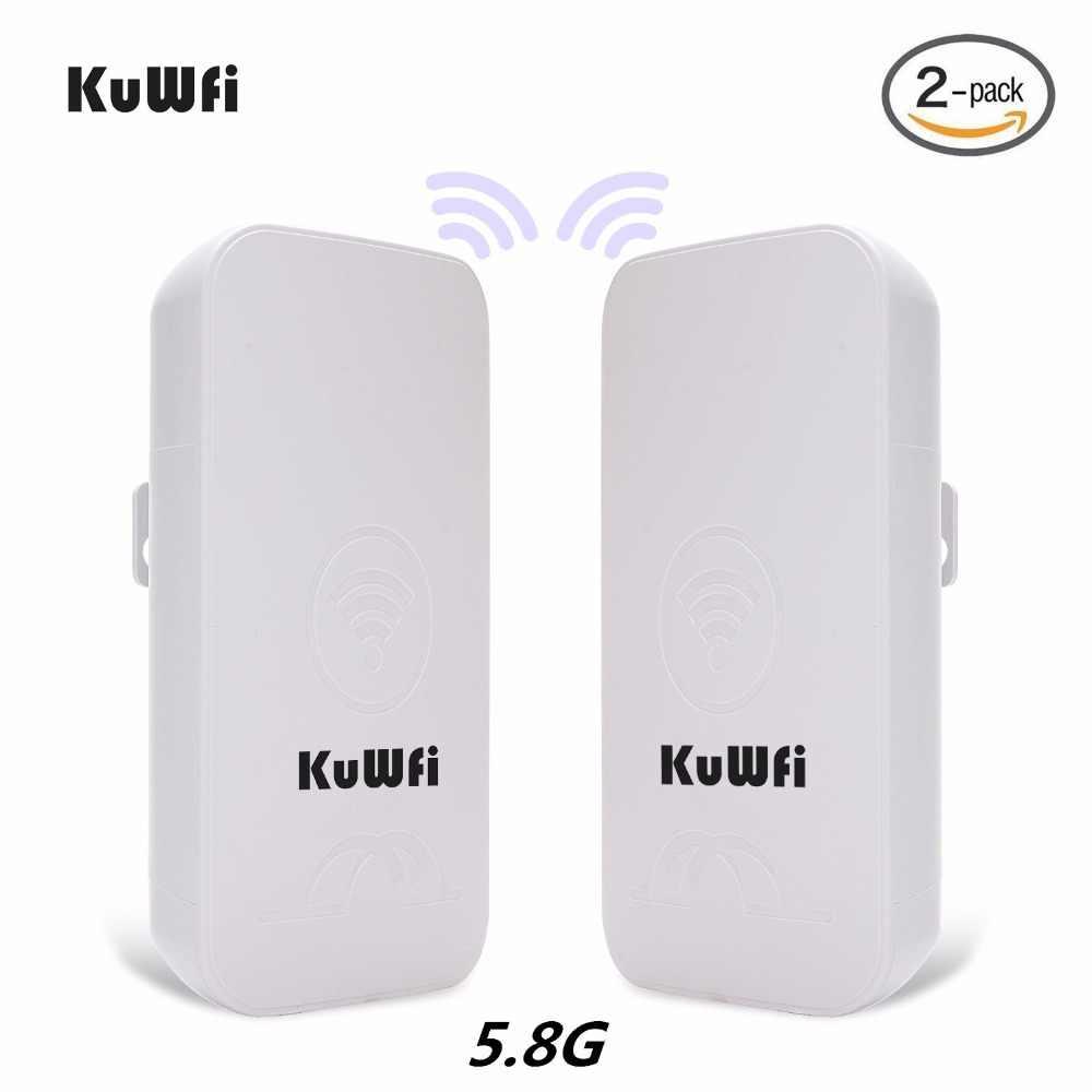 2PCS KuWFi 1-3 קילומטר 300Mbps חיצוני CPE נתב 5G אלחוטי נקודת גישה נתב Wifi גשר wi-fi Extender CPE נתב עם 24V POE