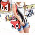 AUAU 2016 new cartoon fox owl squirrel bags women Messenger Bag Compact PU package designer handbags