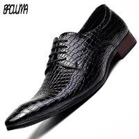 BAOLUMA Baoluma Mens Pointy Shoes Dress Shoes Pu Leather Oxfords Formal Shoes Business Wedding Shoes For Male 2018 Spring 46 47