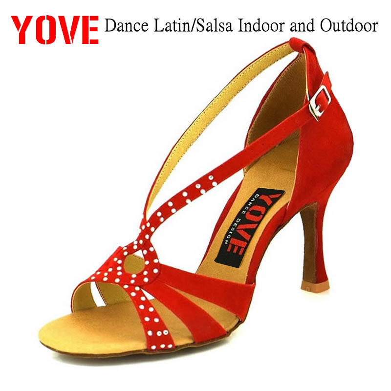 YOVE Style w134-13 Dansesko Bachata / Salsa Indoor og Outdoor Women's Dance Shoes
