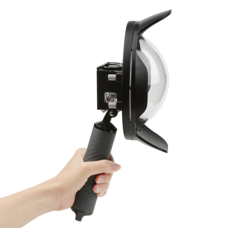 6 pouces 40 m dôme de plongée Port pour GoPro Hero 6 5 caméra d'action noire avec boîtier étanche pour Go Pro Hero 5 accessoires