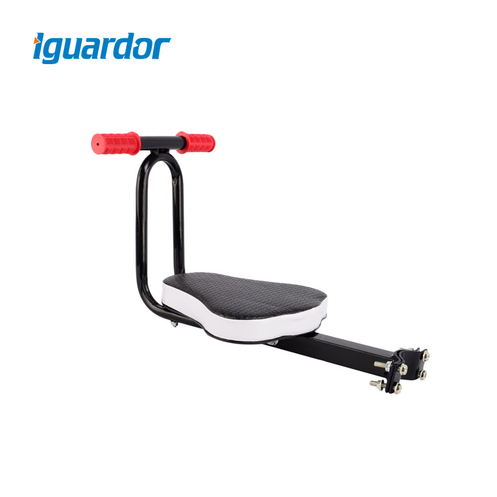 Iguardor Quick Release Detachable Safety Firmly Bicycle Safety Front Seat Child Bike Seat with Handle Bike Accessories - Black