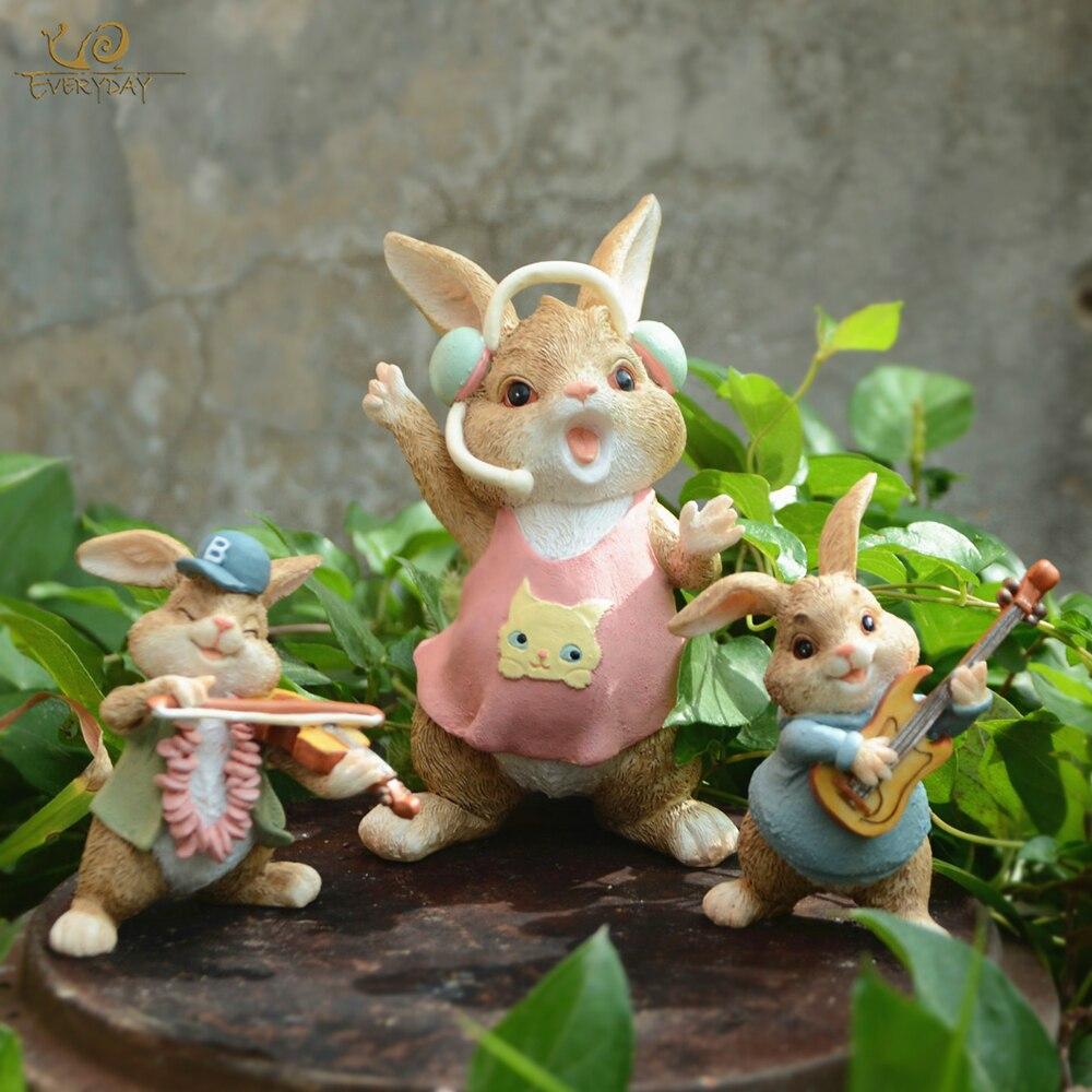 Mini wooden bridge micro-landscape resin figurine fairy garden accessories VQ