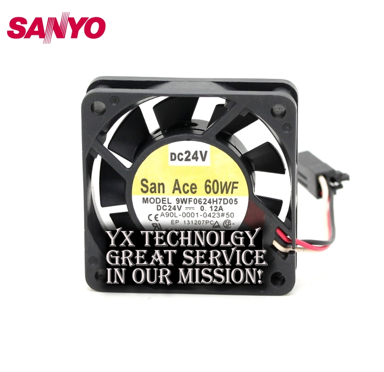 SANYO  New Waterproof 9WF0624H7D05 6015 24V A06B-6134-K003 fan for  60*60*15mm original new aub0624hb 6cm 6015 24v 0 09a fan drive for delta 60 60 15mm