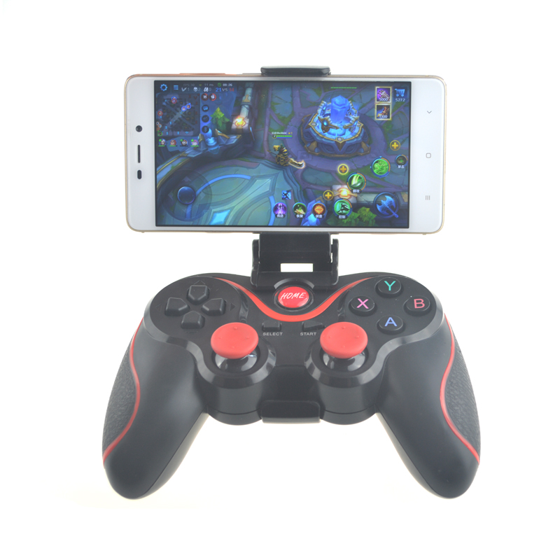 Wireless Bluetooth 3.0 Game Controller Terios T3 For Android Smartphone Tablet PC With TV Box Holder T3+ Remote Gamepad Joystick