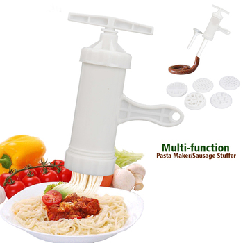 Multifunctional Noodle Maker Machine Kitchen Tool Pasta Maker Sausage Stuffer Filler Spaghetti Pates Machine Noodle Cutter Press image