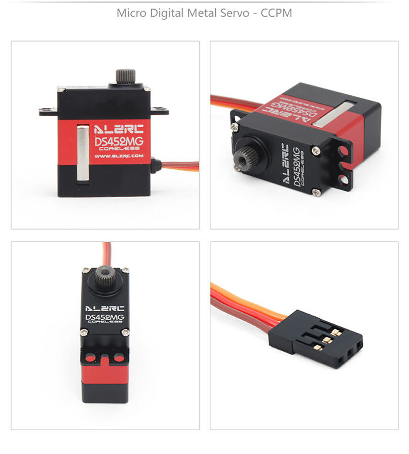 3PCS DS452MG ALZRC Servos+1PC DS501MG Servo For RC 380 450 480 500 Helicopter
