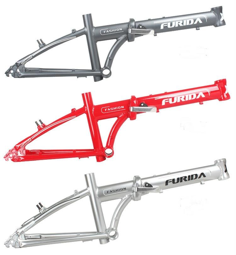 2017 Top  Mtb Bike Carretera Bicycle Frame. Folding Bicycle.20er Bmx Bicycle Frame Aluminum Alloy Frame Comprises A Front Fork!
